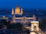 Gresham Palace Lit Up at Night  Budapest  Hungary