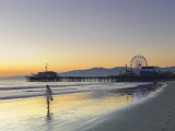 California  Los Angeles  Santa Monica Beach  Pier and Ferris Wheel  USA