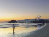 California  Los Angeles  Santa Monica Beach  Pier and Ferris Wheel  USA