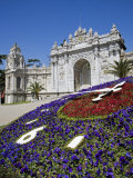 European Influenced Dolmabahce Palace in Istanbul  Turkey  Home of the Ottoman Sultans after 1853