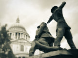 National Firefighters Monument  St  Paul&#39;s Cathedral  London  England
