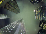 Highrises Soar over the Business District of Central on Hong Kong Island