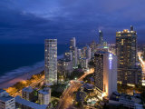 Queensland  Gold Coast  Surfer's Paradise  Evening View of Surfer's Paradise Highrises  Australia