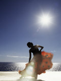 Flamenco Dancing by Sea in Full Sunlight  Ibiza  Spain  Europe