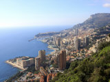 Elevated View over the City  Monte Carlo  Monaco  Cote D'Azur  Mediterranean  Europe