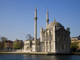 Mecidiye Mosque Stands on Water's Edge at Ortakoy  One of Pretty Bosphorus Villages in Istanbul
