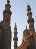 Minarets of Sultan Hassan Mosque and Al Raifi Mosque in Cairo  Egypt