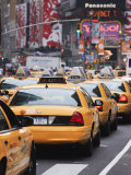 Taxis and Traffic in Times Square  Manhattan