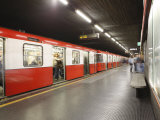 Underground Train  Milan  Lombardy  Italy  Europe