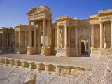 Theatre in the Spectacular Ruined City of Palmyra  Syria