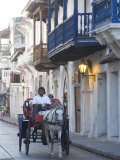 Carriage Through the Ciudad Amurallada  Cartagena  Colombia