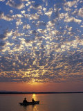 Canoeing under a Mackerel Sky at Dawn on the Zambezi River  Zambia