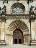 Santa Maria Abbey Door  Alcobaca  UNESCO World Heritage Site  Estremadura  Portugal  Europe