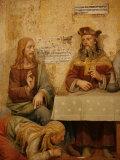 Jesus  Simon the Pharisee and the Sinner  San Vivaldo  Tuscany  Italy  Europe