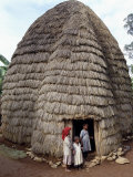 Dorze People Living in Highlands West of Abyssinian Rift Valley  Ethiopia