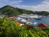 Us Virgin Islands  St  Thomas  Charlotte Amalie and Havensight Cruise Ship Dock  Caribbean