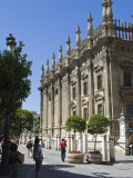 Tourist Photographs the Magnificent Baroque Architecture of Seville's Cathedral  Spain
