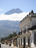 Volcano  Vulcan Agu and Colonial Architecture  Antigua  Guatemala  Central America