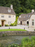 Houses Near the Brook  Castle Combe Village  Cotswolds  Wiltshire
