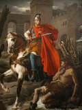 Painting of St Martin Sharing His Coat  St Gatien Cathedral  Tours  Indre-Et-Loire