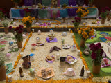 Decorations for the Day of the Dead Festival  Plaza Principal  San Miguel De Allende  Guanajuato