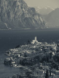 Veneto  Lake District  Lake Garda  Malcesine  Aerial Town View  Italy
