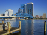 Main Street Bridge and Skyline  Jacksonville  Florida  United States of America  North America