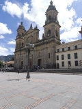 Cathedral at Plaza Bolivar  Bogota  Colombia  South America