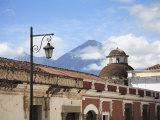 Volcano  Vulcan Agua and Colonial Architecture  Antigua  Guatemala