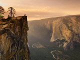 California  Yosemite National Park  Taft Point  El Capitan and Yosemite Valley  USA