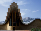 Striking Architecture of Ysios Winery Mirrors Limestone Mountains of Sierra De Cantabria Behind