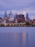 Philadelphia Skyline and Delaware River  Philadelphia  Pennsylvania