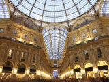 Galleria Vittorio Emanuele at Dusk  Milan  Lombardy  Italy  Europe