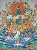 Painting of Green Tara  Buddhist Symbol of Prosperity  Kopan Monastery  Kathmandu  Nepal  Asia