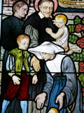 Stained Glass Depicting St Vincent De Paul  Founder of the Daughters of Charity Congregation