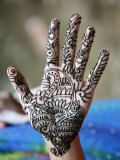 Henna Tattoo on Woman's Hands  Dakshin Kali  Nepal  Asia