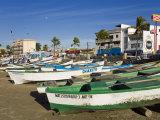Fishing Boats on Playa Norte  Mazatlan  Sinaloa State  Mexico  North America