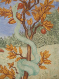Detail of a Fresco Showing the Serpent in the Garden of Eden  Puteaux  Hauts De Seine