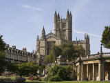 Abbey  Bath  UNESCO World Heritage Site  Avon  England  United Kingdom  Europe
