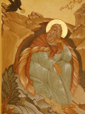 Melkite Icon of Elijah  Nazareth  Galilee  Israel  Middle East
