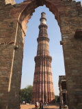 Qutab Minar Tower  UNESCO World Heritage Site  New Delhi  India  Asia
