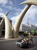 Elephant Tusk Arches  Mombasa  Kenya  East Africa  Africa