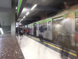 People in the Subway Station  Milan  Lombardy  Italy  Europe