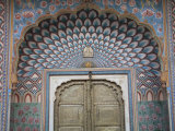 Door  City Palace  Jaipur  Rajasthan  India  Asia