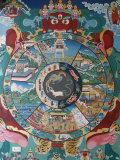 Wheel of Life  Kopan Monastery  Bhaktapur  Nepal  Asia