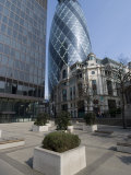 View of the Gherkin  St Mary Axe  London  England  United Kingdom  Europe