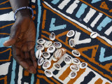 Fortune Telling with Cowrie Shells  Saly  Thies  Senegal  West Africa  Africa