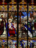 Stained Glass Window of the Visit of the Magi  St Gatien Cathedral  Tours  Indre-Et-Loire