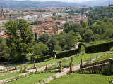 Panoramic View over River Arno and Florence from the Bardini Gardens  Florence  Tuscany