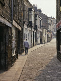 Cobbled Side Street in Otley  Yorkshire  England  United Kingdom  Europe
